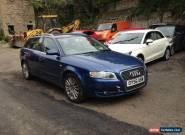2006 AUDI A4 AVANT SE TDI AUTO BLUE NON RUNNER SPARES OR REPAIR for Sale