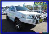 Classic 2012 Toyota Hilux KUN26R MY12 SR5 (4x4) White Manual 5sp M Dual Cab Pick-up for Sale
