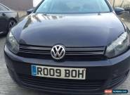 VOLKSWAGEN GOLF SE TDI 2009 09 REG BLACK - DAMAGED SALVAGE - SPARES OR REPAIRS for Sale