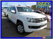 2011 Volkswagen Amarok 2H TDI400 Trendline (4x4) White Manual 6sp M for Sale