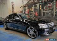 2007 Mercedes-Benz C200 Kompressor W204 Avantgarde Black Automatic 5sp A Sedan for Sale