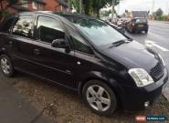 2004 VAUXHALL MERIVA DESIGN 16V BLACK SPARES OR REPAIRS DRIVE AWAY IRMSCHER  for Sale