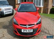 2014 VAUXHALL ASTRA 1.6 DESIGN RED Petrol Manual for Sale