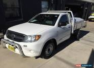 2008 Toyota Hilux GGN15R 07 Upgrade SR White Manual 5sp M Cab Chassis for Sale