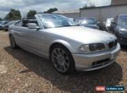 2001 BMW 320CI AUTO CONVERTIBLE SILVER **NO RESERVE** for Sale