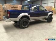 2004 Nissan Navara D22 3L turbo diesel 4x4 light front damaged repairable drives for Sale