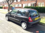 FULL YEAR MOT RENAULT CLIO AUTHENTIQUE 1.2 PETROL 2005 BLACK 57,000 MILES for Sale