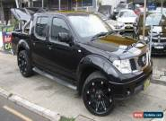 2011 Nissan Navara D40 ST (4x4) Black Manual 6sp M Dual Cab Pick-up for Sale