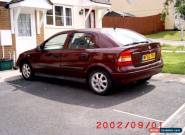 2002 VAUXHALL ASTRA CLUB 16V AUTO RED for Sale