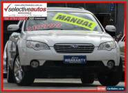 2006 Subaru Outback MY07 2.5I White Manual 5sp M Wagon for Sale