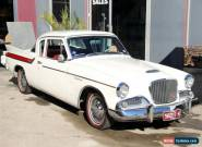 1961 Studebaker Hawk V8 White & Red Automatic 3sp A Sedan for Sale