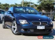 2008 BMW 650i E63 MY08 50I Deep Sea Blue Automatic 6sp A Convertible for Sale