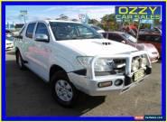 2009 Toyota Hilux KUN26R 08 Upgrade SR5 (4x4) Glacier White Manual 5sp M for Sale