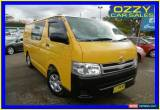 Classic 2010 Toyota Hiace KDH201R MY11 Upgrade LWB Yellow Automatic 4sp A Van for Sale