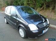 2004 VAUXHALL MERIVA LIFE 16V BLACK for Sale