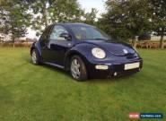 2002 VW BEETLE TURBO Dk BLUE Beige leather int. Low miles 54k for Sale