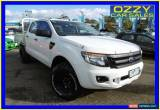 Classic 2012 Ford Ranger PX XL 3.2 (4x4) White Manual 6sp M Dual Cab Chassis for Sale