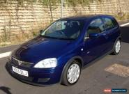 VAUXHALL CORSA DESIGN 1.2 TWINPORT BLUE 2005 FULL 12 MONTHS MOT for Sale