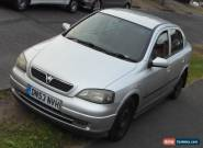 2003 VAUXHALL ASTRA SXI 16V SILVER + SPARES OR REPAIR for Sale
