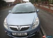 "2007 ""07"" REG VAUXHALL CORSA 1.2  CLUB BLUE.SPARES OR REPAIR.NON RUNNER.L@@K. for Sale"