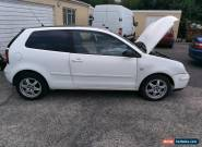 2002 VW Polo E, 3 door, 1.2, white - Spares or repair for Sale