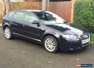 2007 AUDI A3 SE TDI SPORTBACK BLACK 6 SPEED 2.0 DIESEL NO RESERVE AUCTION for Sale