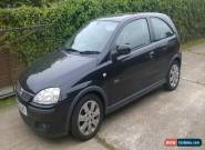 2003 VAUXHALL CORSA SXI 16V BLACK - SPARES OR REPAIR - NO RESERVE for Sale