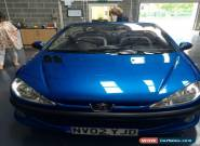 2002 Metallic Blue Peugeot 206 cc Convertible 1.6 Petrol. for Sale