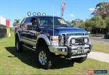 Classic 2010 Ford F350 CREW CAB LARIAT Blue Automatic A Dual Cab Utility for Sale
