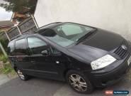 Volkswagen Sharan Sport 1.8 Petrol Black Spares Repairs Runner for Sale