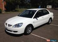 2004 Mitsubishi Lancer CH ES White Automatic 4sp A Sedan for Sale
