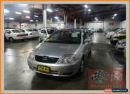 2002 Toyota Corolla ZZE122R Ascent Silver Automatic 4sp A Sedan for Sale