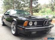 1988 BMW 6-Series for Sale