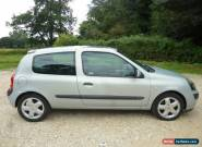 2003 RENAULT CLIO DYNAMIQUE 3 DOOR 1.4 16V SILVER for Sale