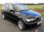 BMW 318i (2.0)SE TOURING AUTO,LEATHER,METALLIC BLACK,12 MONTHS MOT,05 REG,3 KEYS for Sale
