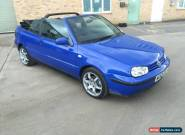 2000 VOLKSWAGEN GOLF CABRIOLET 1.6 SE BLUE SOFT TOP CONVERTIBLE Spares or Repair for Sale
