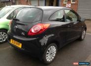 2011 FORD KA ZETEC BLACK LIGHT DAMAGED CAT D REPAIRABLE SPARES OR REPAIR  for Sale