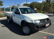 2007 Mitsubishi Triton GLX White Automatic 4sp A Cab Chassis for Sale