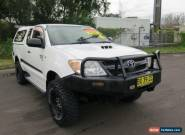 2007 Toyota Hilux KUN26R MY08 SR White Manual 5sp M 2D CAB CHASSIS for Sale