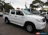 2010 Toyota Hilux KUN26R 09 Upgrade SR (4x4) White Automatic 4sp A for Sale