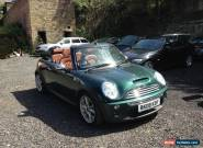 2008 MINI COOPER S SIDEWALK CONVERTIBLE AUTO GREEN NON RUNNER SPARES OR REPAIR for Sale