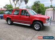 1999 Holden Suburban K8 2500 LS (4x4) Red Automatic 4sp A Wagon for Sale