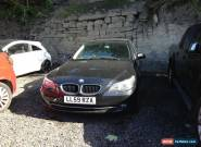 2009 BMW 520D SE BUSINESS EDITION BLACK NON RUNNER SPARES OR REPAIR for Sale