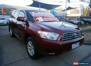 2008 Toyota Kluger GSU40R KX-R (FWD) 7 Seat Maroon Automatic 5sp A Wagon for Sale