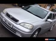 2001 VAUXHALL ASTRA CD 16V SILVER for Sale