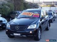 2005 Mercedes-Benz ML W164 350 Luxury (4x4) Obsidian Black Automatic 7sp A for Sale