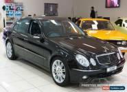 2005 Mercedes-Benz E280 211 MY06 Upgrade Avantgarde Black Automatic 7sp A Sedan for Sale