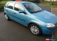 2002 VAUXHALL CORSA COMFORT 12V BLUE 12months mot  for Sale