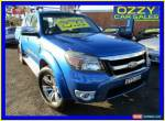 2010 Ford Ranger PK Wildtrak (4x4) Blue Manual 5sp M Dual Cab Pick-up for Sale