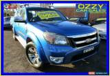 Classic 2010 Ford Ranger PK Wildtrak (4x4) Blue Manual 5sp M Dual Cab Pick-up for Sale